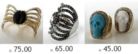 Senhor(ita) dos anéis, brincos, pulseiras…