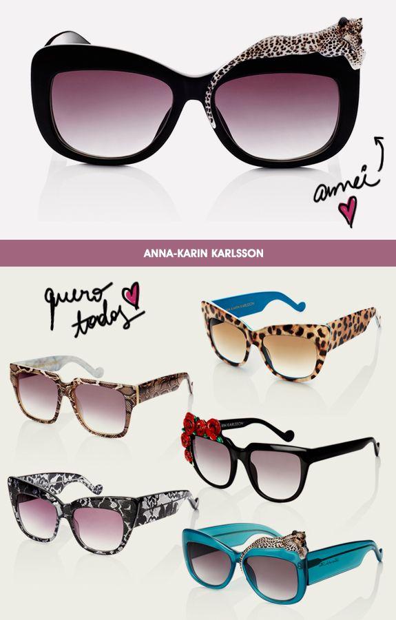 Anna Karin Karlsson e seus óculos