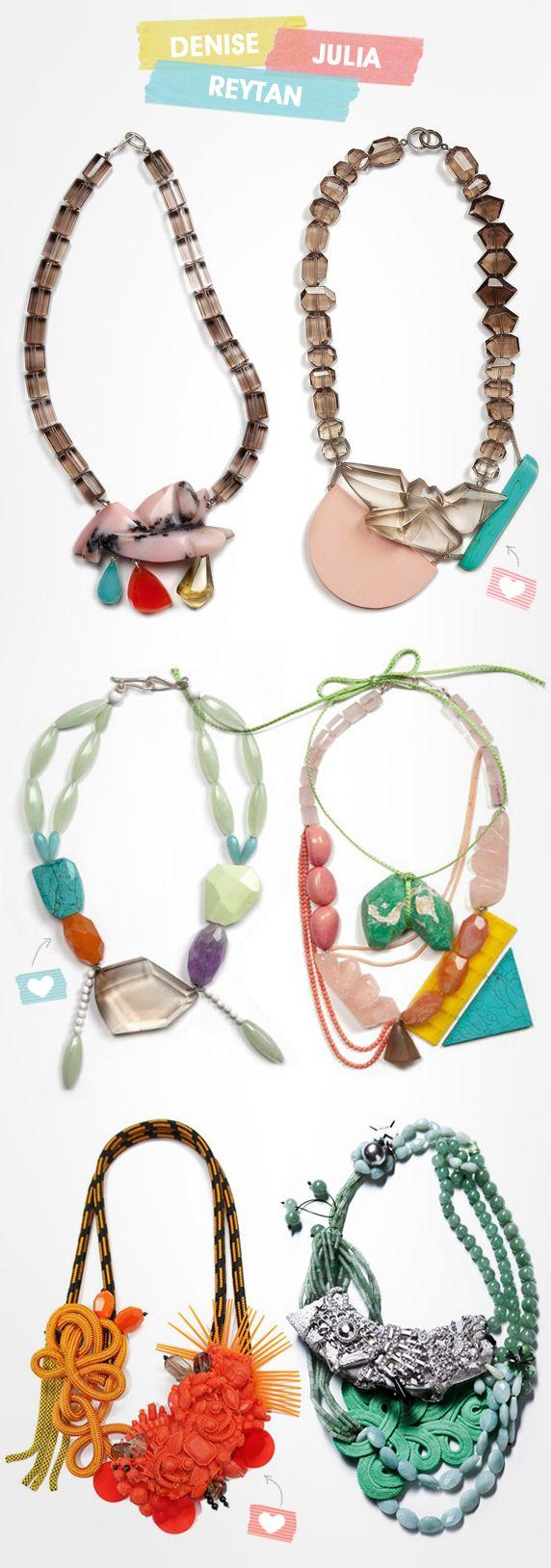 Os colares de Denise Julia Reytan