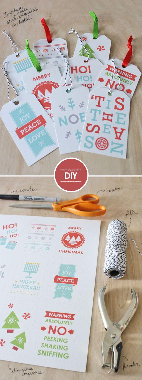 DIY – Etiquetas de Natal