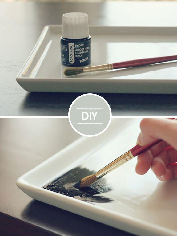 DIY – Lousa na porcelana