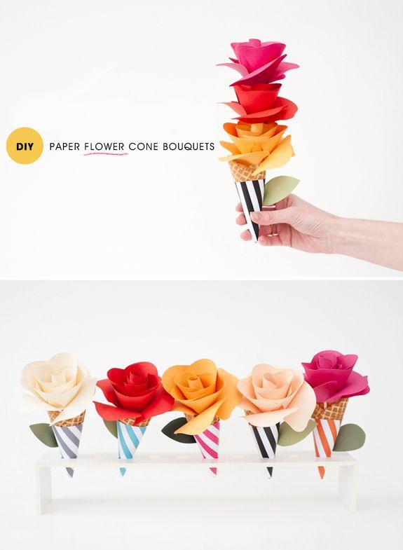 DIY: flores em cones