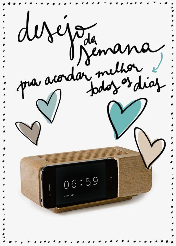 Desejo da Semana: despertador de madeira