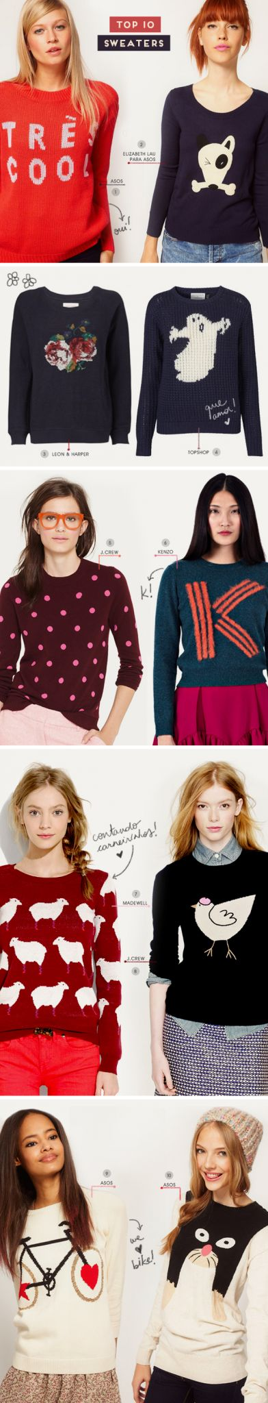 top 10 lovely sweaters