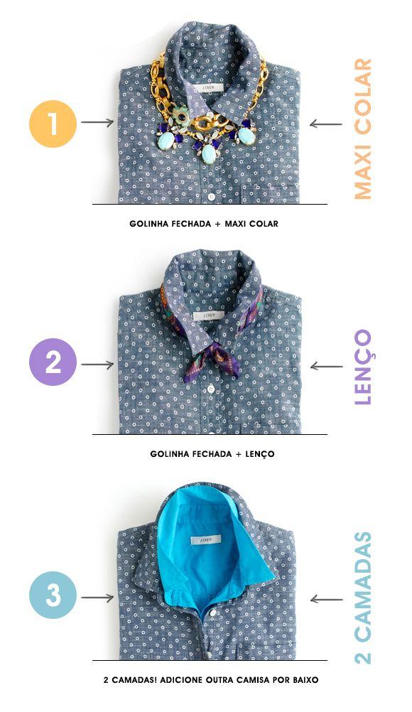 Achados da Bia | Dicas | Styling | 3 jeitos de atualizar sua camisa