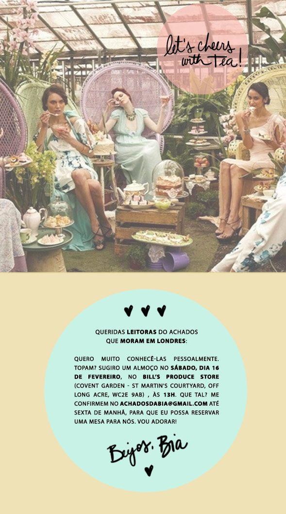 Achados da Bia | Convite | Encontro Londres