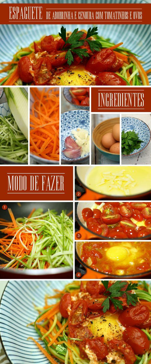 Achados da Bia | Receitas | Comida | Cozinha da Matilde | Leticia Massula | Espaguete de Abobrinha e Cenoura