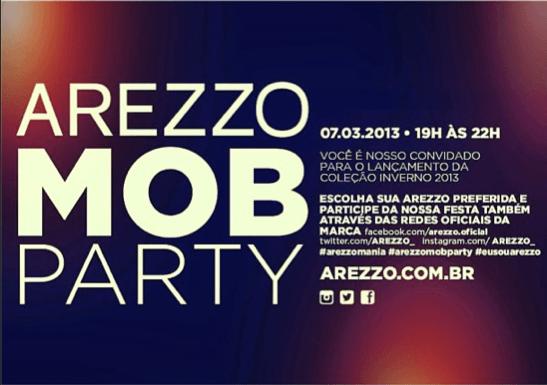 Achados da Bia | Convite MOB Party Arezzo
