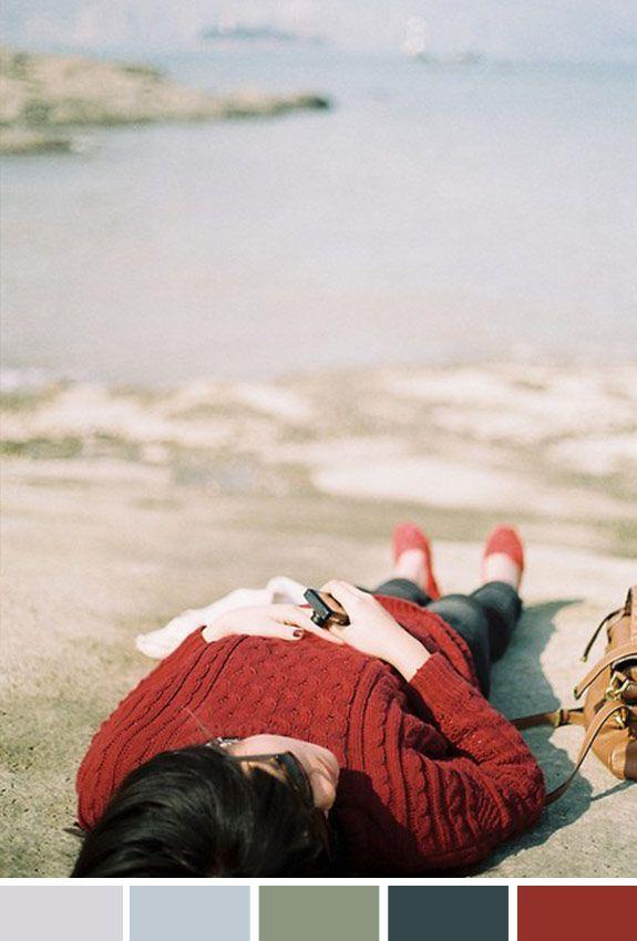 Achados da Bia | Inspiração do Dia | Distante | Praia no frio