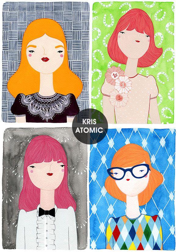 Achados da Bia | Ilustrações | Kris Atomic