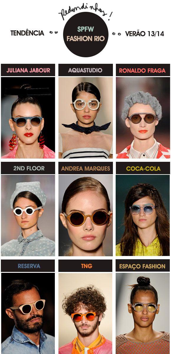 Achados da Bia | Tendência | Moda | Acessórios | SPFW Fashion Rio | Óculos Redondos