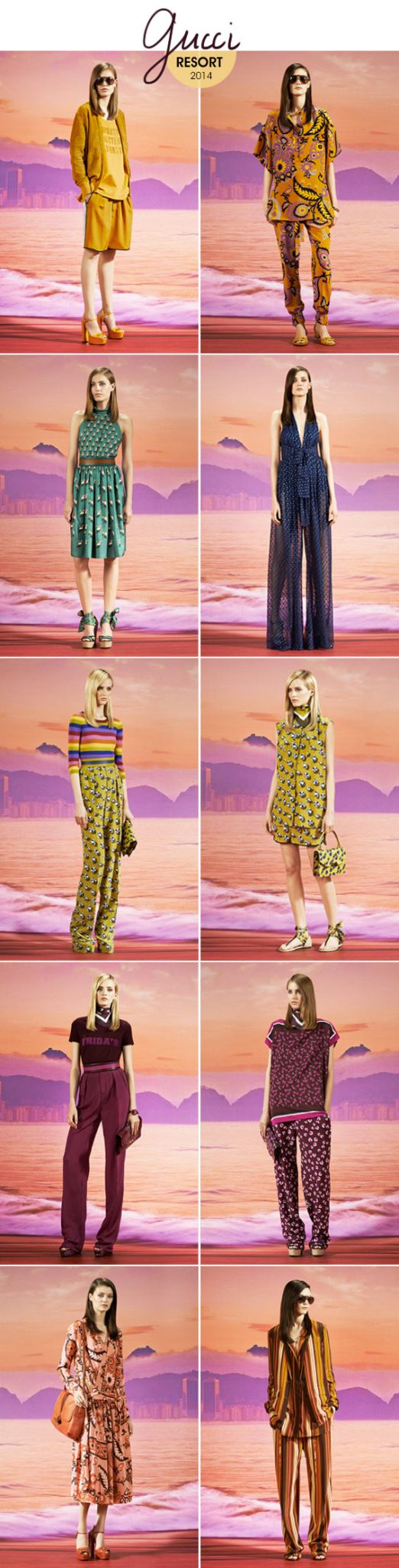 Achados da Bia | Gucci Resort 2014 | Moda | Estilo | Coleção