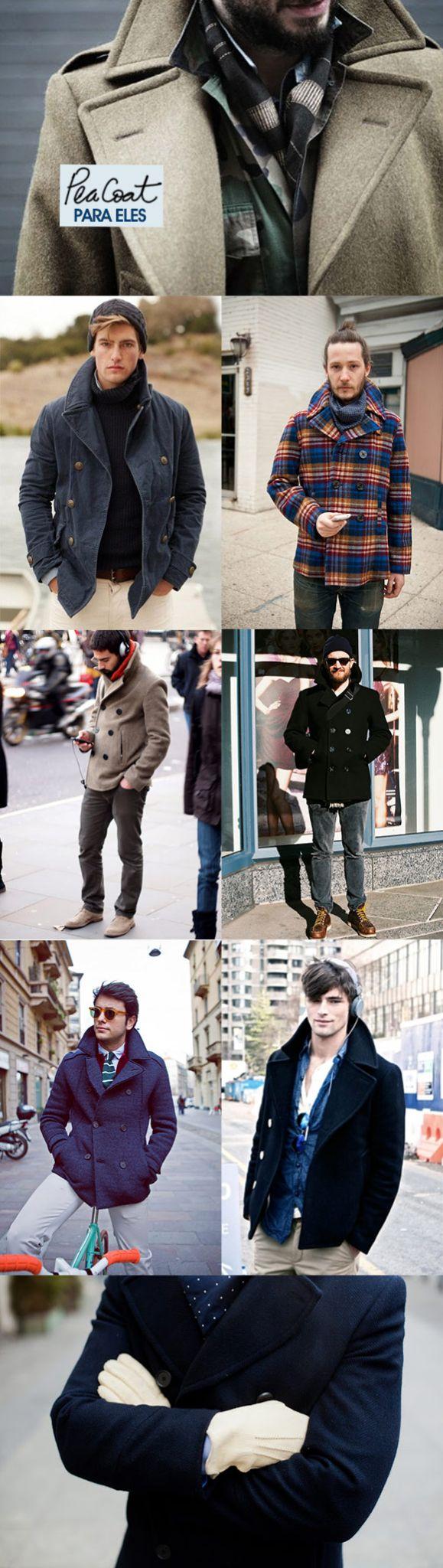 Moda para eles: pea coat