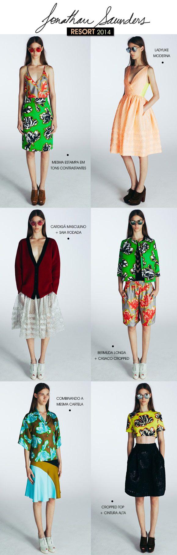 Achados da Bia | Moda | Jonathan Saunders | Resort 2014
