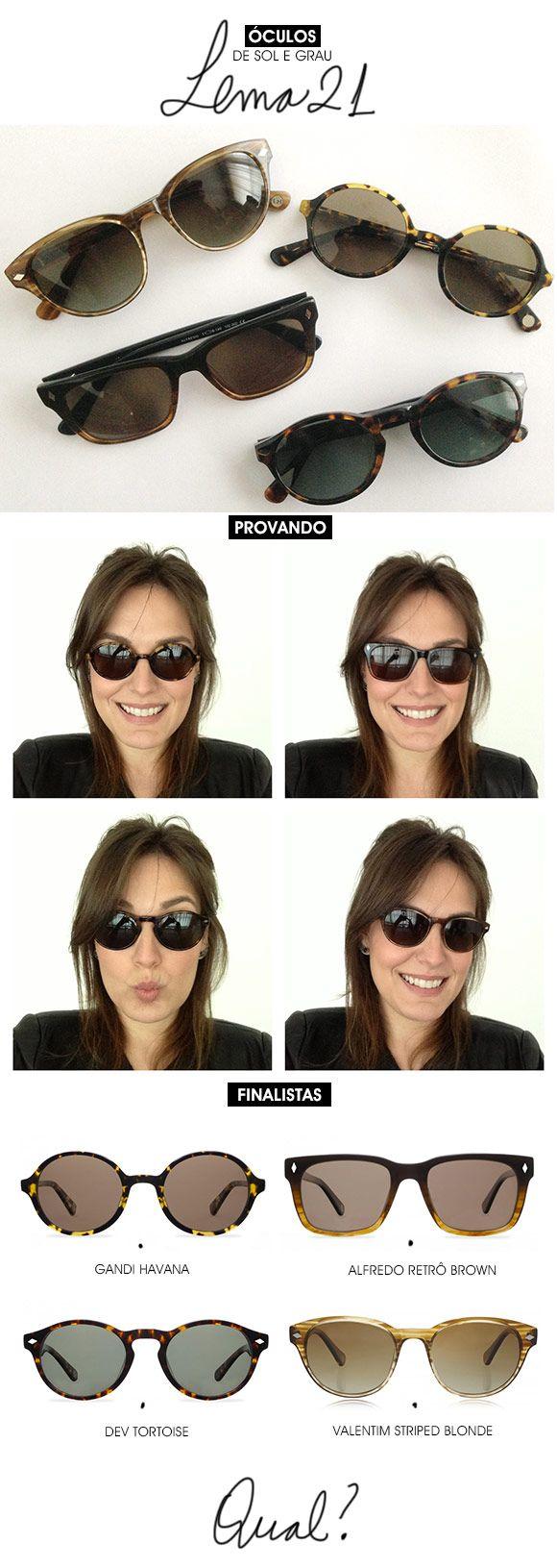 Achados da Bia | Publicidade | Óculos de sol e grau | Lema21
