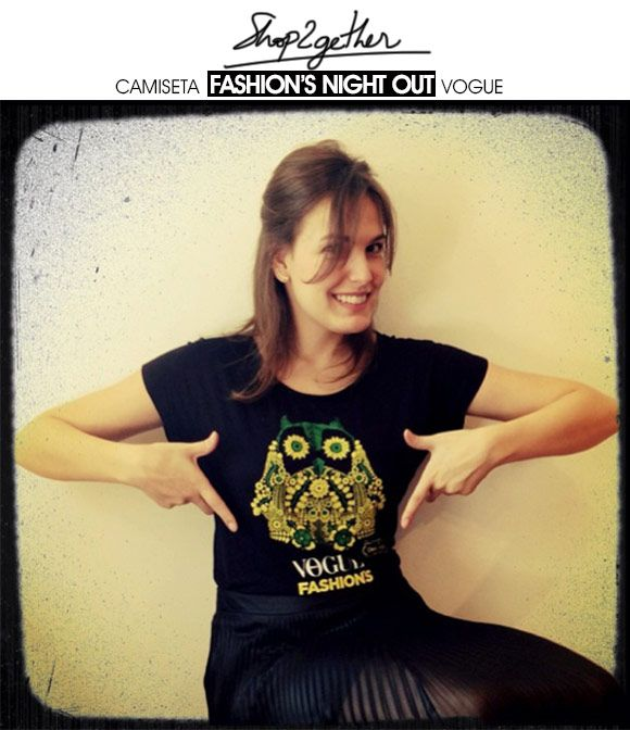Achados da Bia | Fashion's Night Out Vogue | Camiseta | Shop2gether