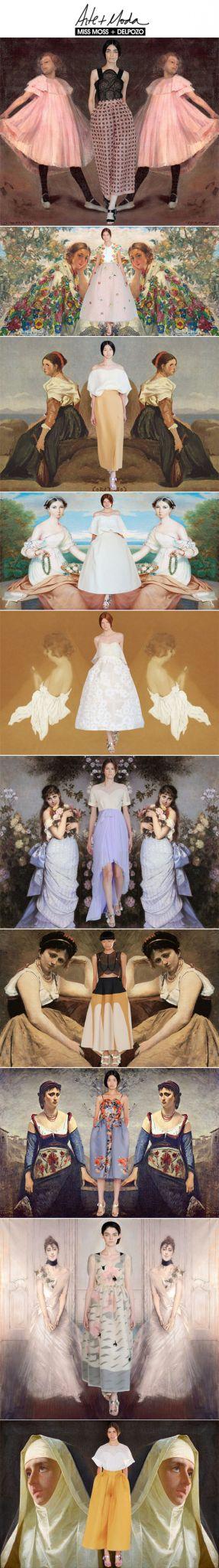 Achados da Bia | Moda + Arte | Comparison Series | Miss Moss | Delpozo