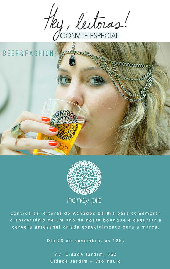 Achados da Bia | Convite | Coquetel | Honey Pie