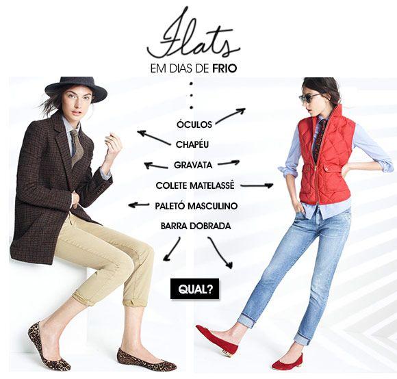 Achados da Bia | Moda | Flats no frio