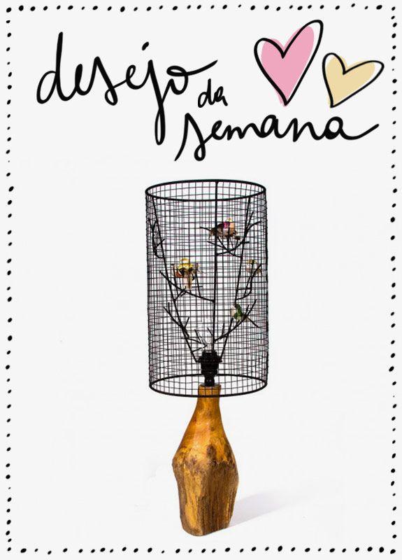 Achados da Bia   Desejo da semana   Luminária Pássaros   Sala Design
