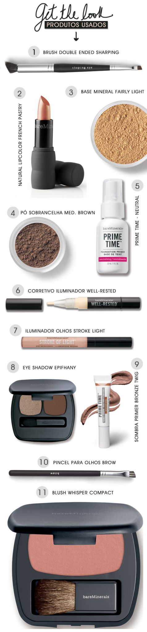 Achados da Bia | Beleza | bareMinerals | Get the Look