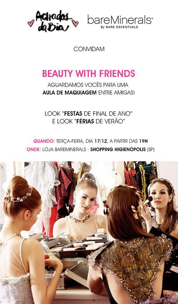 Achados da Bia | Beleza | Convite | Aula de Maquiagem | bareMinerals