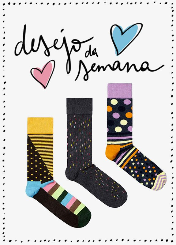 Achados da Bia | Moda | Meias | Happy Socks | Submarino